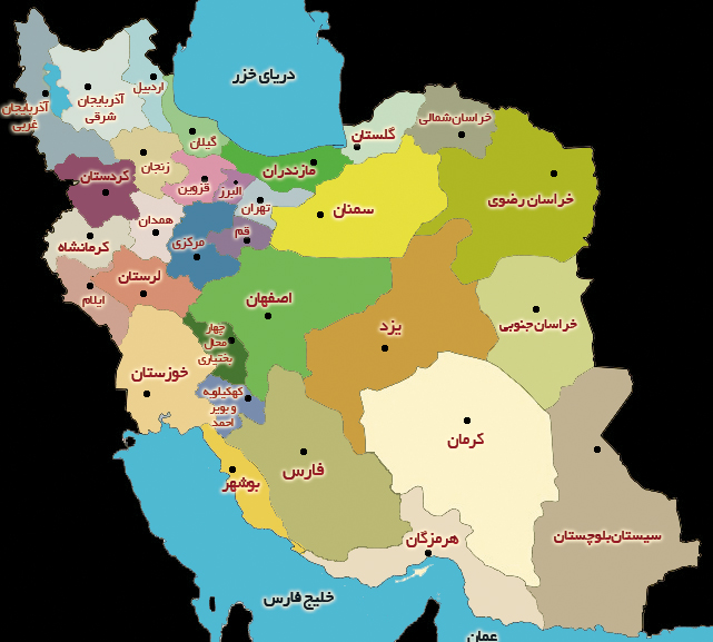 Iran Map Main Page